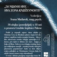 """50 nijansi sive – siva zona književnosti?"" – interaktivna tribina"