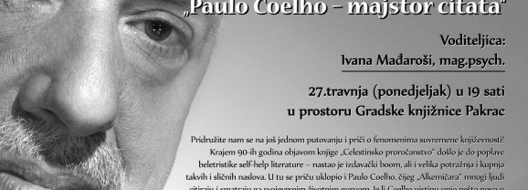 """Interaktivna tribina """"Paulo Coelho – majstor citata"""""""