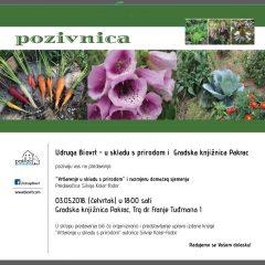 """Predavanje """"Vrtlarenje u skladu s prirodom"""" i razmjena domaćeg sjemenja"""