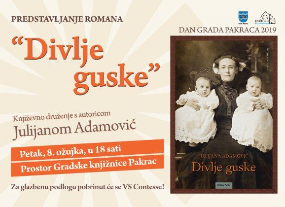 Književno druženje s Julijanom Adamović – Dan grada Pakraca 2019.