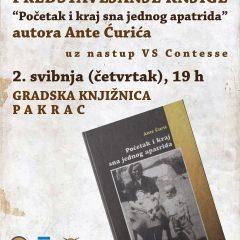 """Predstavljanje knjige Ante Ćurića """"Početak i kraj sna jednog apatrida"""" – 24. godišnjica VRO Bljesak i Dan branitelja grada Pakraca"""