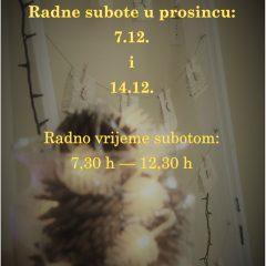 Radne subote – prosinac 2019.