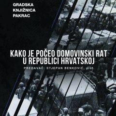 Kako je počeo Domovinski rat u RH / predavanje: Stjepan Benković