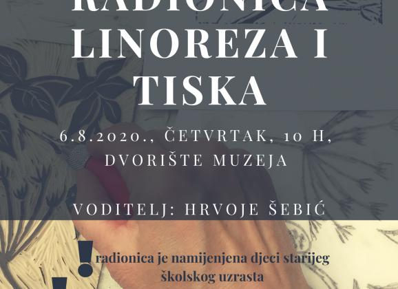 Radionica linoreza i tiska – COOLturno ljeto 2020.
